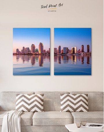 San Diego Skyline Canvas Wall Art - image 1