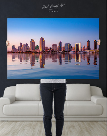 San Diego Skyline Canvas Wall Art - image 2