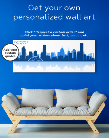 Panoramic Melbourne City Skyline Canvas Wall Art - image 2