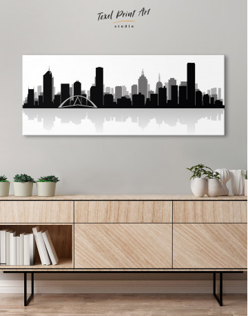 Panoramic Melbourne City Skyline Canvas Wall Art - image 3