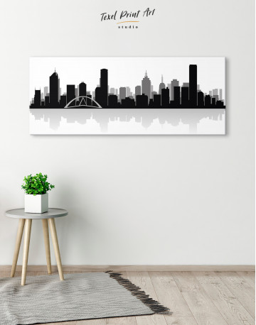 Panoramic Melbourne City Skyline Canvas Wall Art - image 4