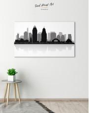 Silhouette Cincinnati Skyline Canvas Wall Art - Image 4