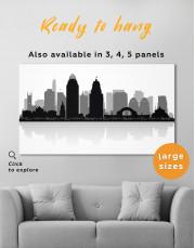 Silhouette Cincinnati Skyline Canvas Wall Art - Image 7