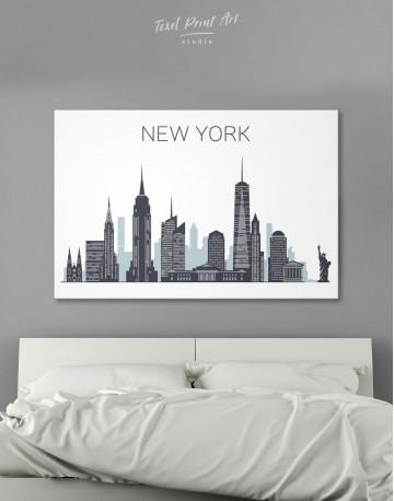 New York City Silhouette Canvas Wall Art