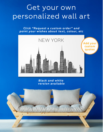 New York City Silhouette Canvas Wall Art - image 7