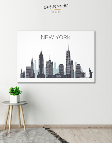 New York City Silhouette Canvas Wall Art - image 6