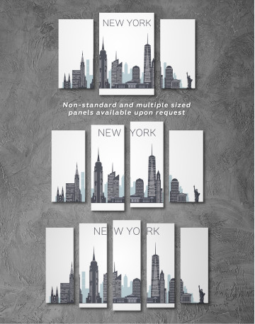 New York City Silhouette Canvas Wall Art - image 5