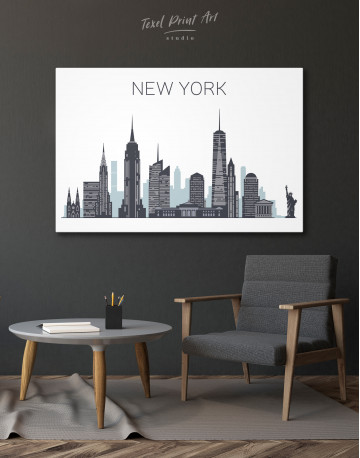 New York City Silhouette Canvas Wall Art - image 4
