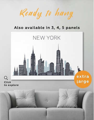 New York City Silhouette Canvas Wall Art - image 3