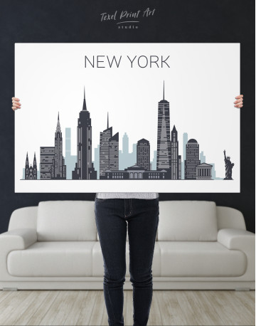 New York City Silhouette Canvas Wall Art - image 9
