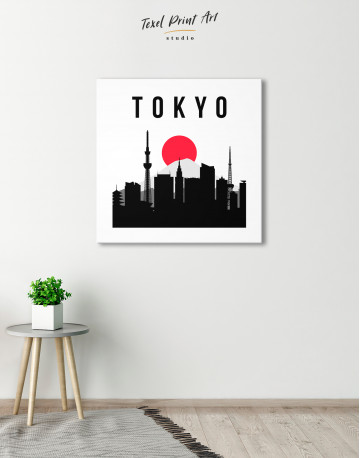 Tokyo Silhouette Canvas Wall Art - image 6