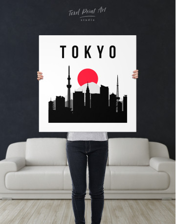 Tokyo Silhouette Canvas Wall Art - image 4