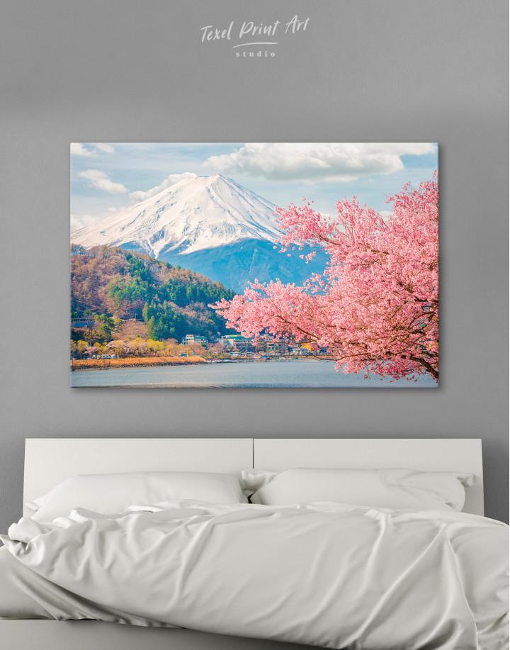 Fuji Mountain Landscape View Canvas Wall Art