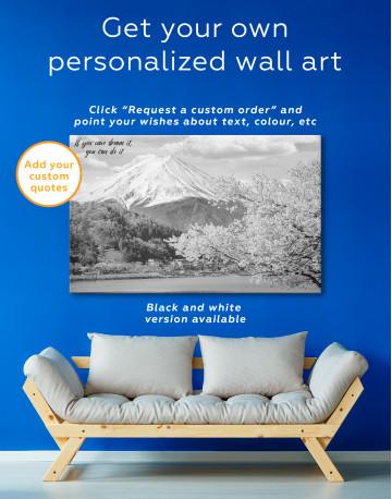 Fuji Mountain Landscape View Canvas Wall Art - image 6