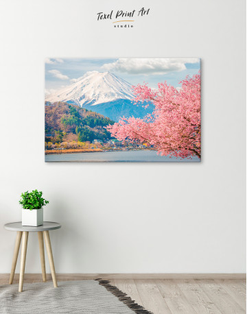 Fuji Mountain Landscape View Canvas Wall Art - image 5