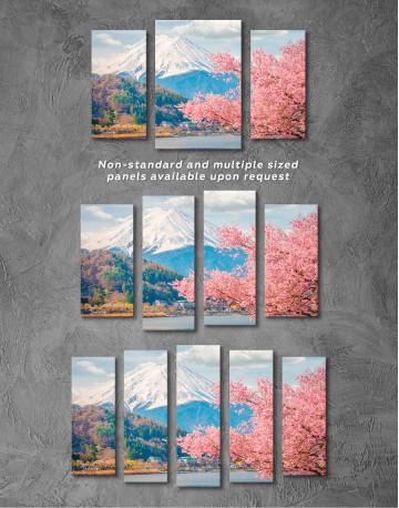 Fuji Mountain Landscape View Canvas Wall Art - image 4