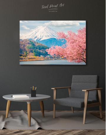 Fuji Mountain Landscape View Canvas Wall Art - image 3