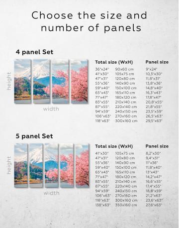 Fuji Mountain Landscape View Canvas Wall Art - image 10