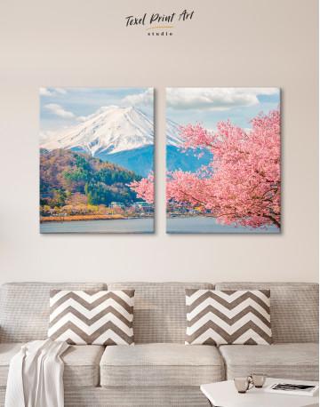 Fuji Mountain Landscape View Canvas Wall Art - image 9