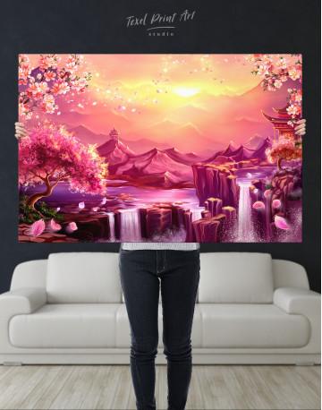 Fantasy Asian Mountain Landscape Canvas Wall Art - image 9