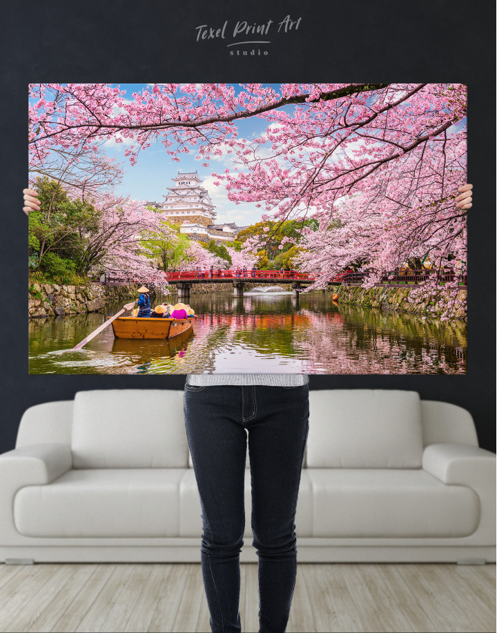 Japan Temple Landscape View Canvas Wall Art - Image 3