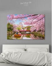 Japan Temple Landscape View Canvas Wall Art