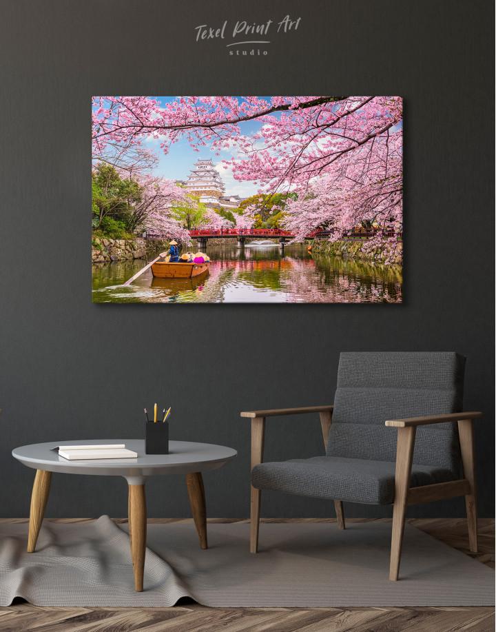 Japan Temple Landscape View Canvas Wall Art - Image 1