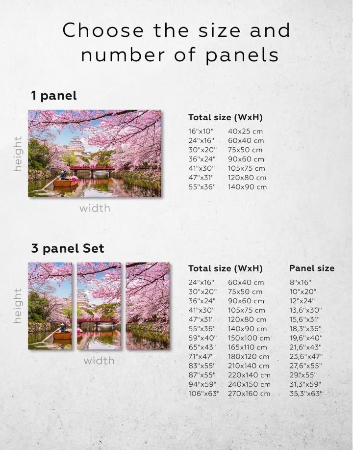 Japan Temple Landscape View Canvas Wall Art - Image 7