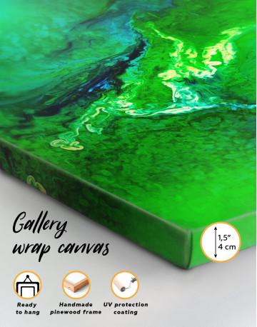 Green Abstract Painting Canvas Wall Art - image 8