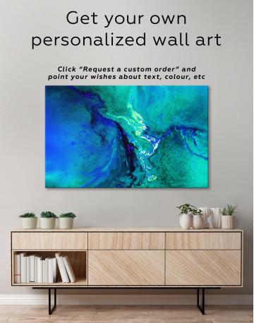Green Abstract Painting Canvas Wall Art - image 7