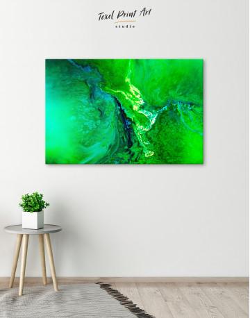 Green Abstract Painting Canvas Wall Art - image 6