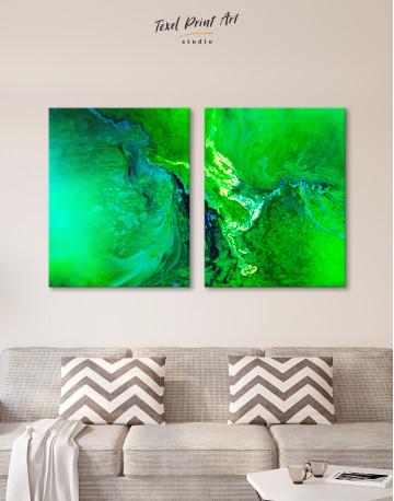 Green Abstract Painting Canvas Wall Art - image 5