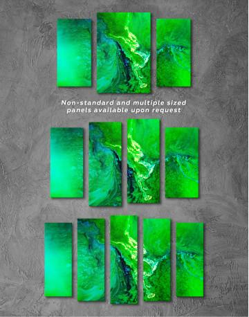 Green Abstract Painting Canvas Wall Art - image 4