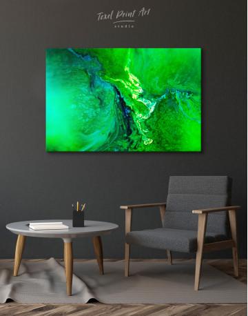 Green Abstract Painting Canvas Wall Art - image 3