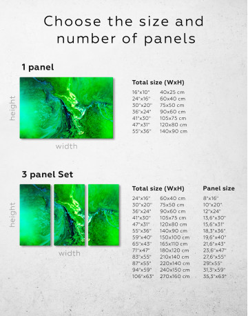 Green Abstract Painting Canvas Wall Art - image 1