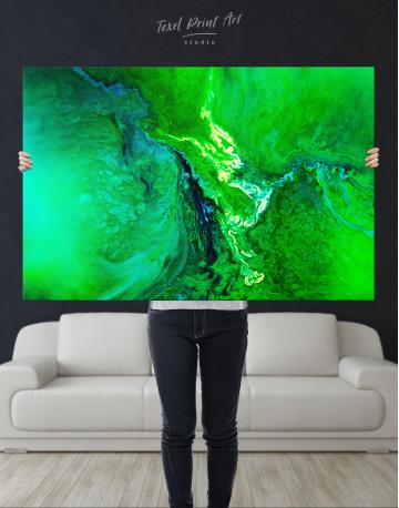Green Abstract Painting Canvas Wall Art - image 9