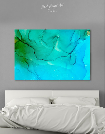 Blue Abstract Painting Canvas Wall Art