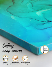 Blue Abstract Painting Canvas Wall Art - Image 4