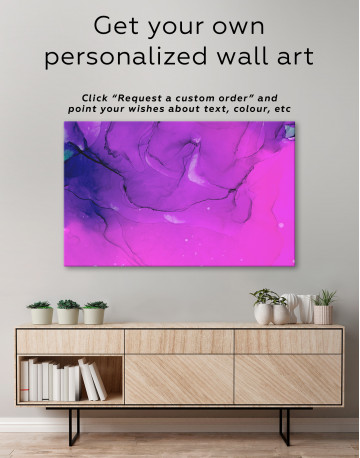 Blue Abstract Painting Canvas Wall Art - image 1