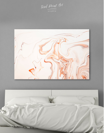 Orange and White Abstract Painting Canvas Wall Art