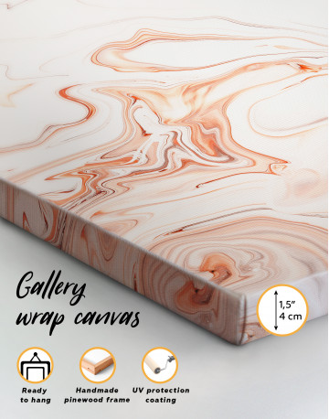 Orange and White Abstract Painting Canvas Wall Art - image 2