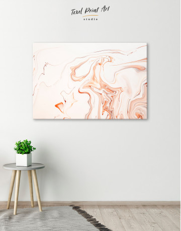 Orange and White Abstract Painting Canvas Wall Art - image 4