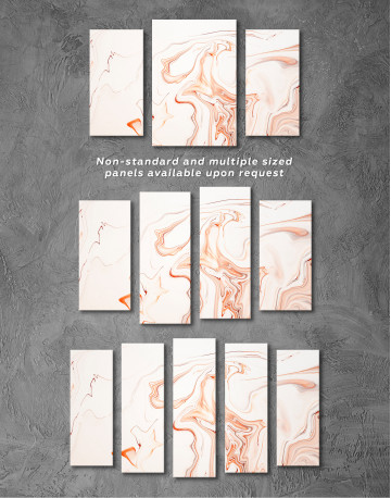 Orange and White Abstract Painting Canvas Wall Art - image 5