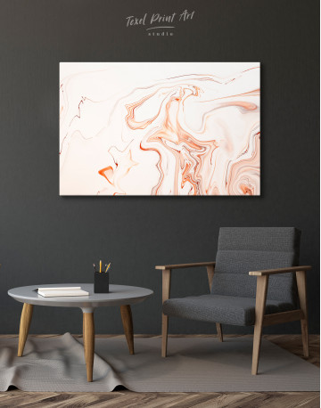 Orange and White Abstract Painting Canvas Wall Art - image 6