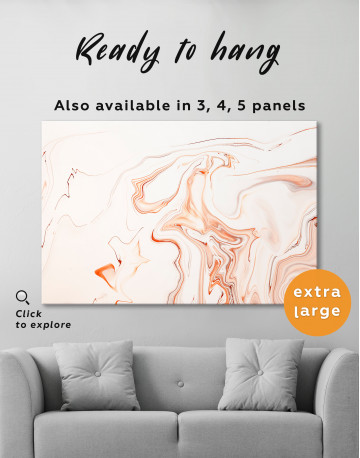 Orange and White Abstract Painting Canvas Wall Art - image 7