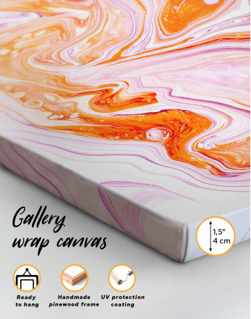 Purple and Orange Abstract Painting Canvas Wall Art - image 9
