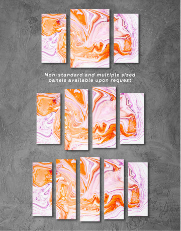 Purple and Orange Abstract Painting Canvas Wall Art - image 5