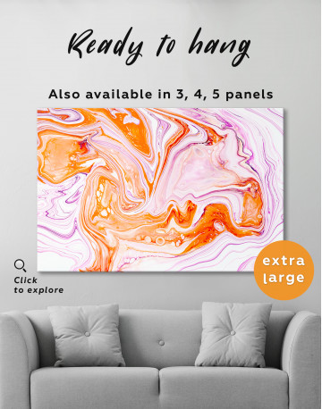 Purple and Orange Abstract Painting Canvas Wall Art - image 3