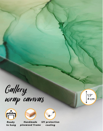Light Green Abstract Painting Canvas Wall Art - image 8