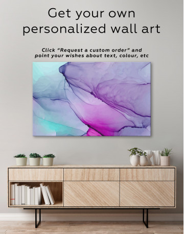 Light Green Abstract Painting Canvas Wall Art - image 7